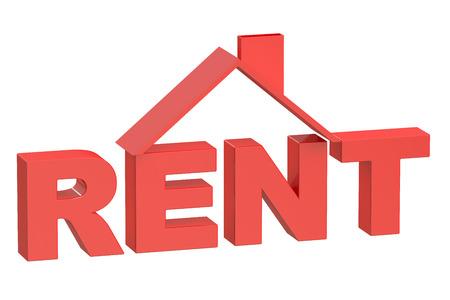 home buyer: Rent House concept, 3D rendering