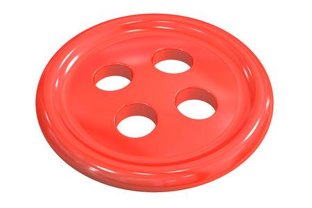 바느질 단추 의류, 흰색 배경에 고립 된 3D 렌더링 바느질 스톡 콘텐츠