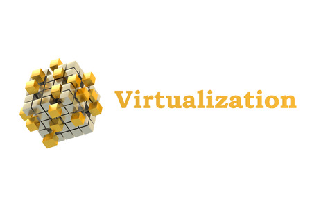 virtualization: Virtualization concept with gearwheels, 3D rendering