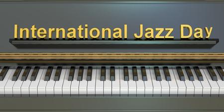 pianoforte: International Jazz Day concept , 3D rendering
