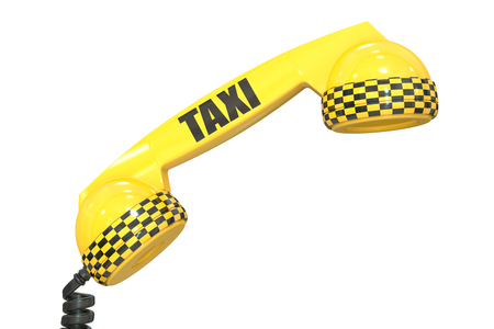 taxi service concept, 3D rendering isolated on white background