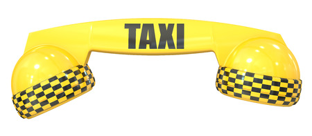 chequerboard: taxi service concept, 3D rendering isolated on white background