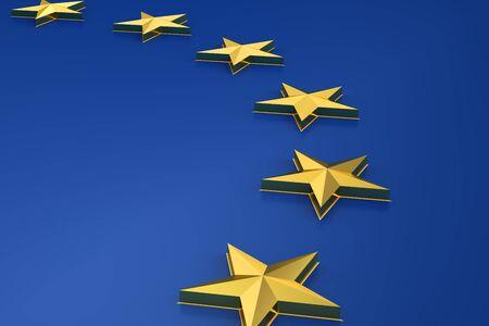 European union concept, 3D rendering