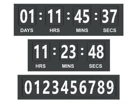 countdown: Countdown timer, scoreboard. 3D rendering