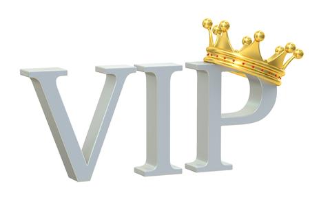 kingly: VIP cocncept, 3D rendering Stock Photo
