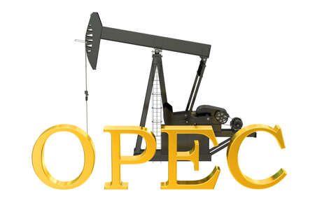 opec: OPEC concept, 3D rendering isolated on white background Stock Photo