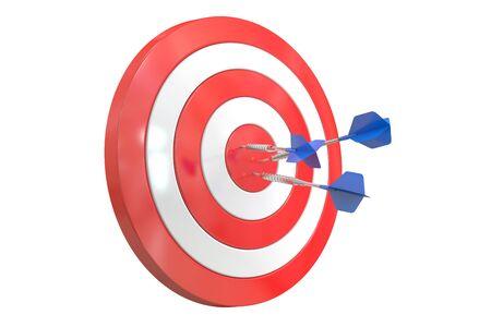 achieved: Success Target, 3D rendering