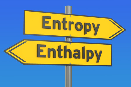 entropy or enthalpy concept, 3D rendering Stock Photo