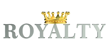 royalty: Royalty concept, 3D rendering