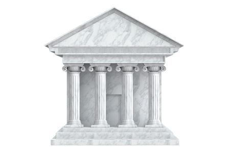 colonnade: Ancient Colonnade Building, 3D rendering