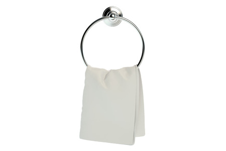 holder: Ring shaped holder with towel, 3D rendering