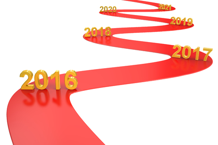 success business concept 2016 year, 3D rendering Stock Photo - 55816493