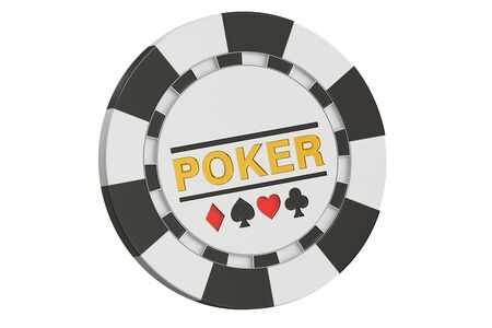 Casino token, 3D rendering isolated on white background Stock Photo