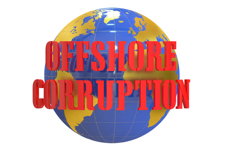 law of panama: Offshore Corruption concept, 3D rendering Stock Photo
