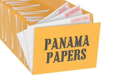 law of panama: Panama Papers concept, 3D rendering