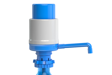 gal: Gallon Bottle Drinking Water Pump, water dispenser pump. 3D rendering