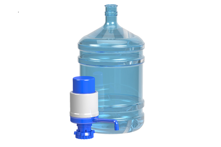 gal: Drinking Water bottle with pump dispenser, 3D rendering