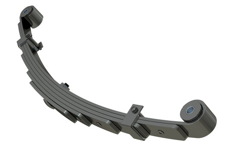 springy: Leaf spring, suspension. 3D rendering isolated on white background