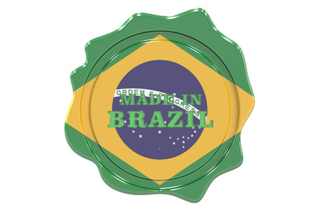 made to order: made in Brazil seal, stamp. 3D rendering Stock Photo