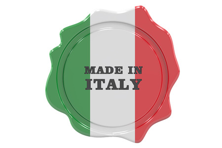 made in italy: made in Italy seal, stamp. 3D rendering