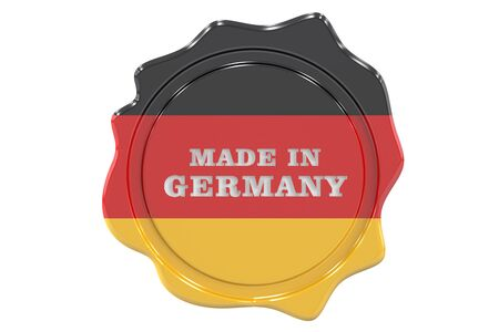 made in Germany sigillo, timbro. il rendering 3D