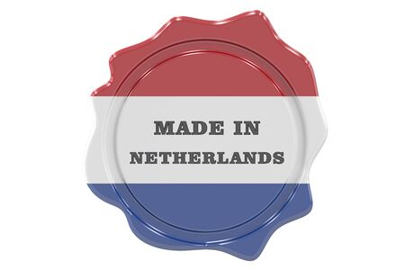 made in netherlands: made in Netherlands seal, stamp. 3D rendering