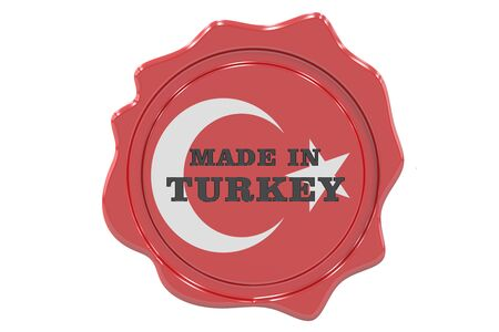 made to order: made in Turkey seal, stamp. 3D rendering