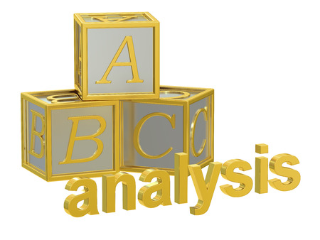 categorization: ABC analysis concept, 3D rendering