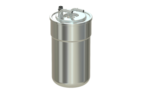 intake: Fuel Filter, 3D rendering isolated on white background