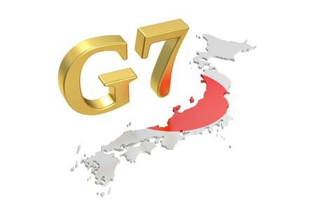 security council: G7 in Japan, concept, 3D rendering isolated on white background