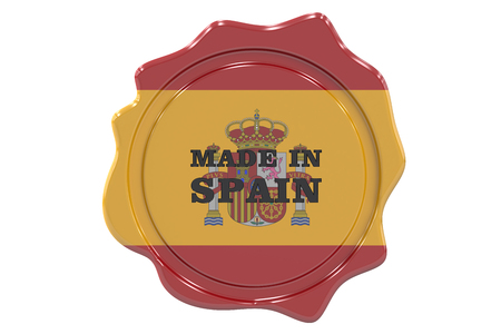made to order: made in Spain seal, stamp. 3D rendering Stock Photo