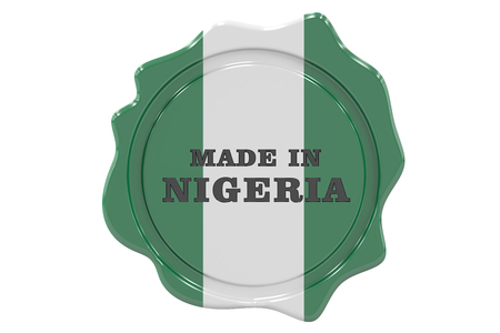 made to order: made in Nigeria seal, stamp. 3D rendering