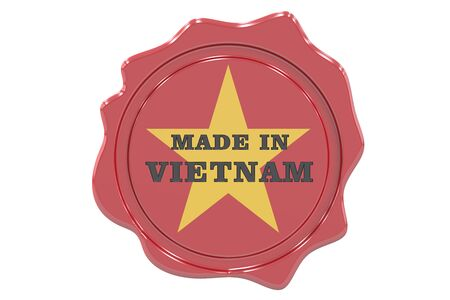 made to order: made in Vietnam seal, stamp. 3D rendering