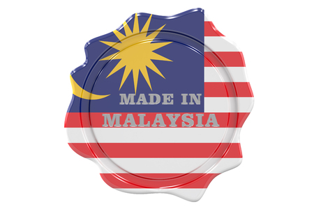 made to order: made in Malaysia seal, stamp. 3D rendering Stock Photo