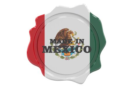 made to order: made in Mexico seal, stamp. 3D rendering