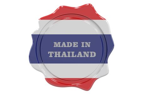 made to order: made in Thailand seal, stamp. 3D rendering Stock Photo