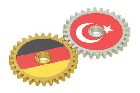relations: Germany and Turkey relations concept , 3D rendering