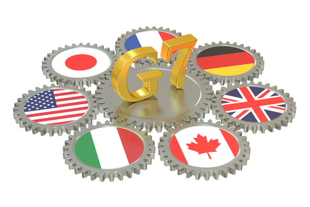 security council: G7 concept, 3D rendering Stock Photo