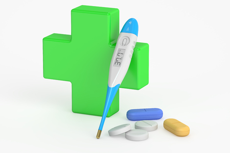 firstaid: medical care concept, 3D rendering isolated on white background