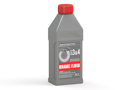 Brake Fluid, 3D rendering isolated on white background