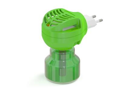 fumigador: Anti-mosquito fumigador, representaci�n 3D aislada en el fondo blanco