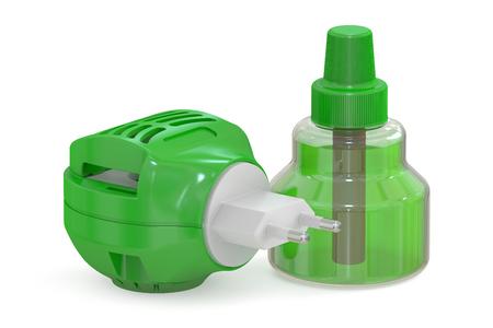 fumigador: partes fumigator anti-mosquitos, representaci�n 3D aisladas sobre fondo blanco Foto de archivo
