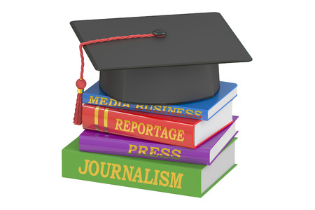 journalism: Journalism education concept, 3D rendering Stock Photo