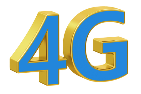 4g: 4G concept, 3D rendering  isolated on white background