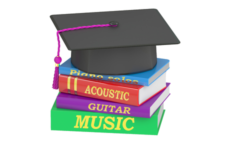 music education: Music Education concept, 3D rendering isolated on white background Stock Photo