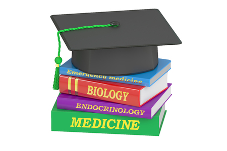 alumnus: Medicine Education concept, 3D rendering isolated on white background