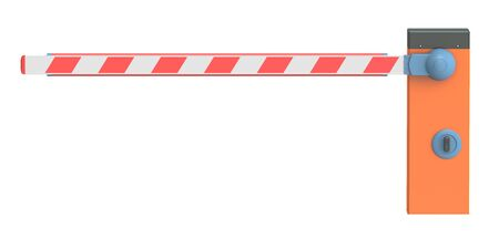 entrance is forbidden: Barrier, 3D rendering isolated on white background