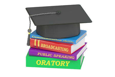 oratory: oratory education, 3D rendering isolated on white background