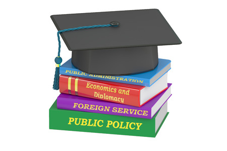 education policy: Public policy education, 3D rendering isolated on white background