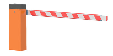 Barrier, 3D rendering isolated on white background